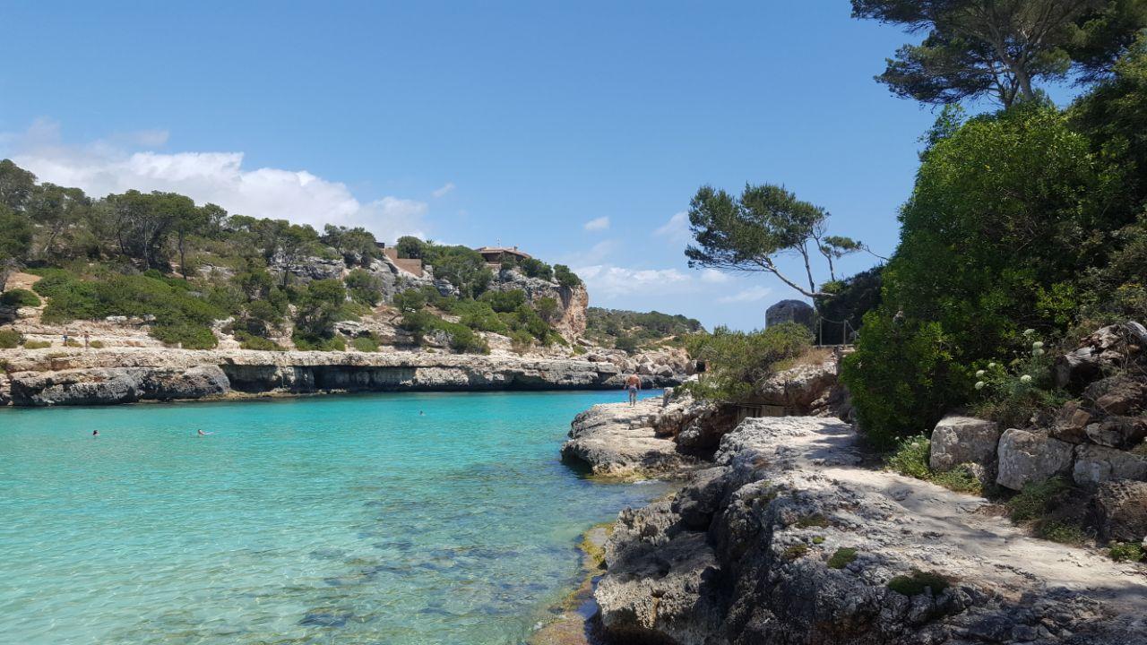 Cala Llombards, en Mallorca