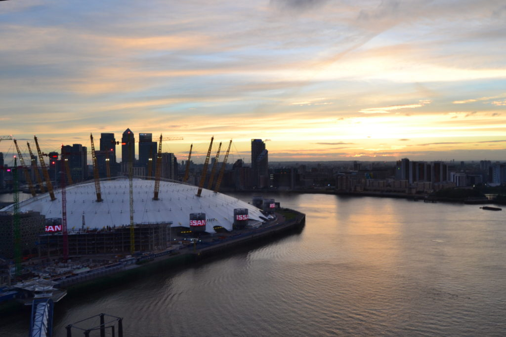 Vistas a Londres desde Emirates Airline