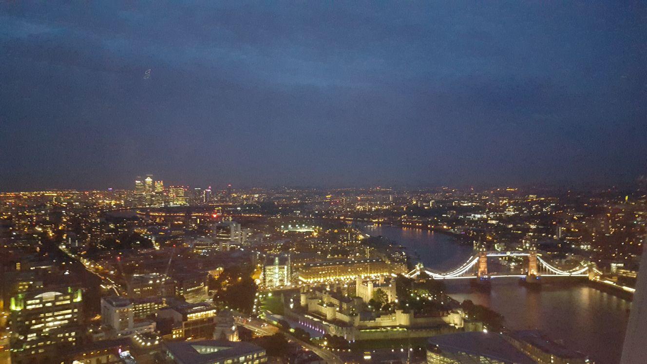 Vistas de Londres desde el mirador de Sky Garden © Propiedad de Fly and Grow