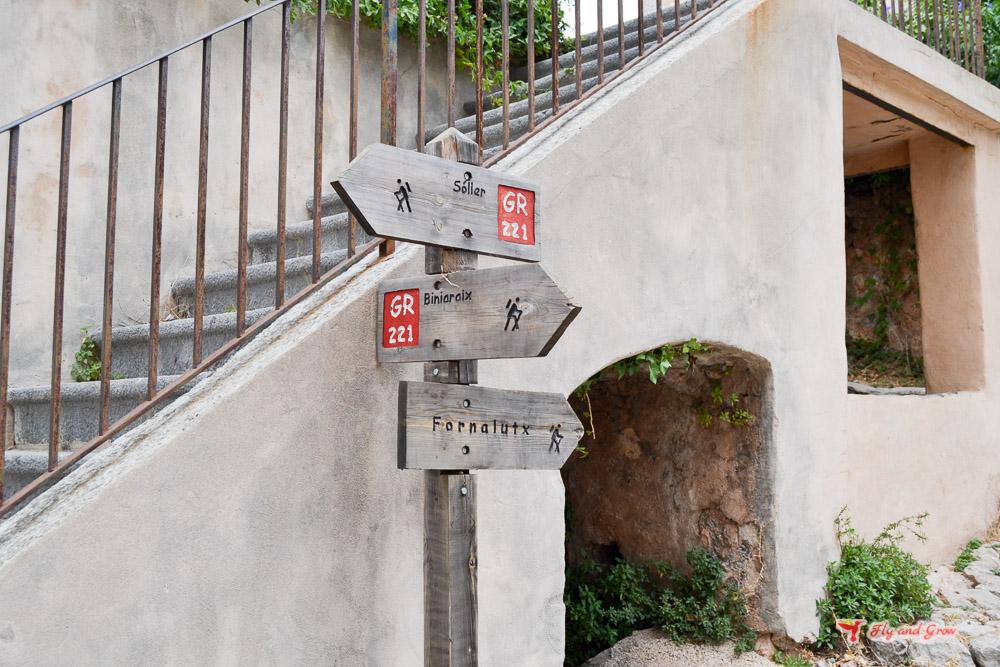 señalización ruta Fornalutx a Sóller