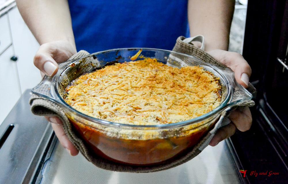 parmigiana en el horno