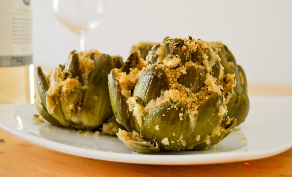 receta alcachofas rellenas estilo italiano