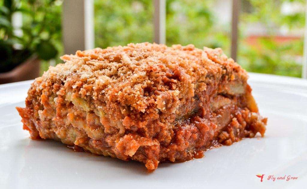 Receta de parmigiana siciliana o berenjenas a la parmigiana