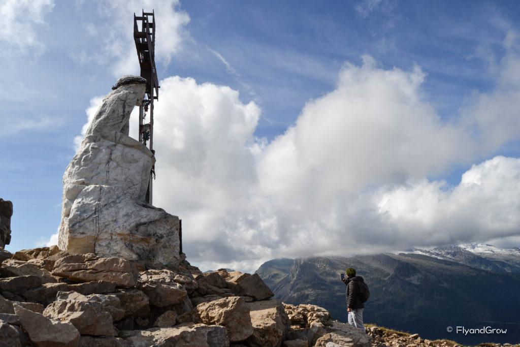 Ruta del Cristo Pensante en Dolomitas