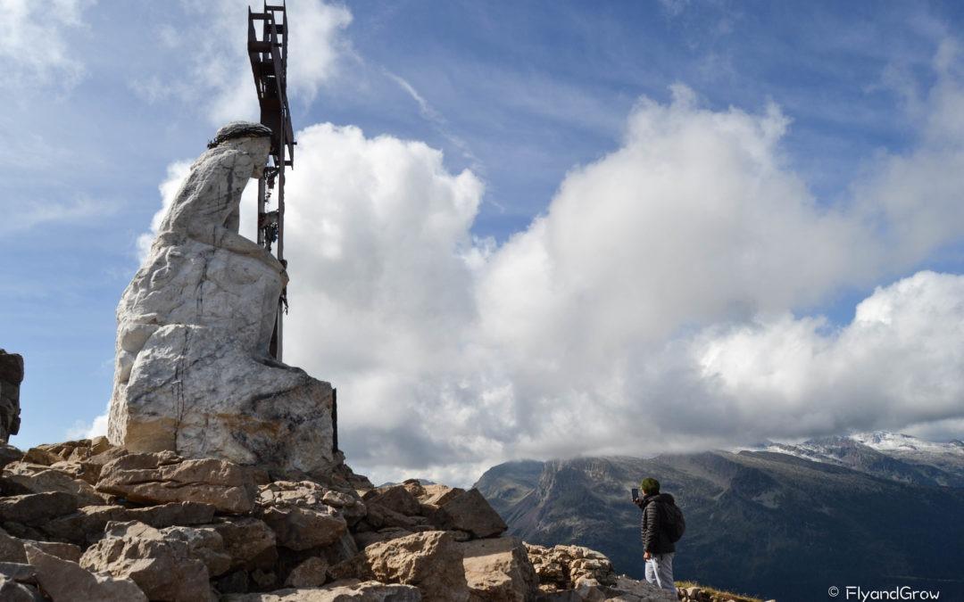 Ruta del Cristo Pensante: ascensión al Monte Castellazzo