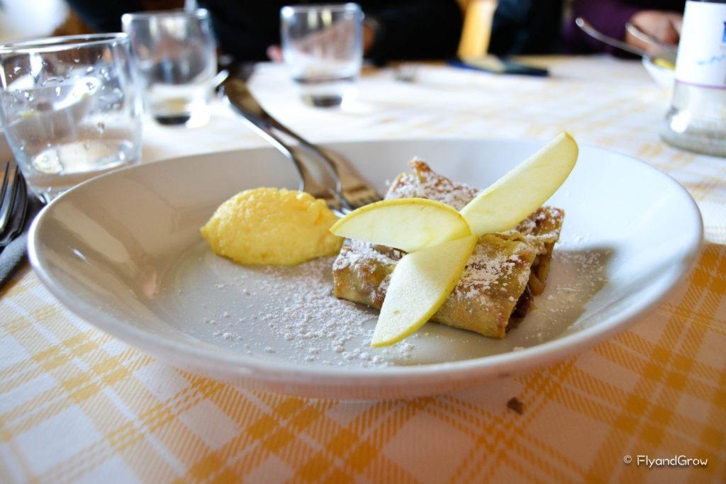 Strudel típico del Sudtirol