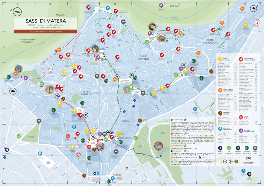 Mapa de Matera