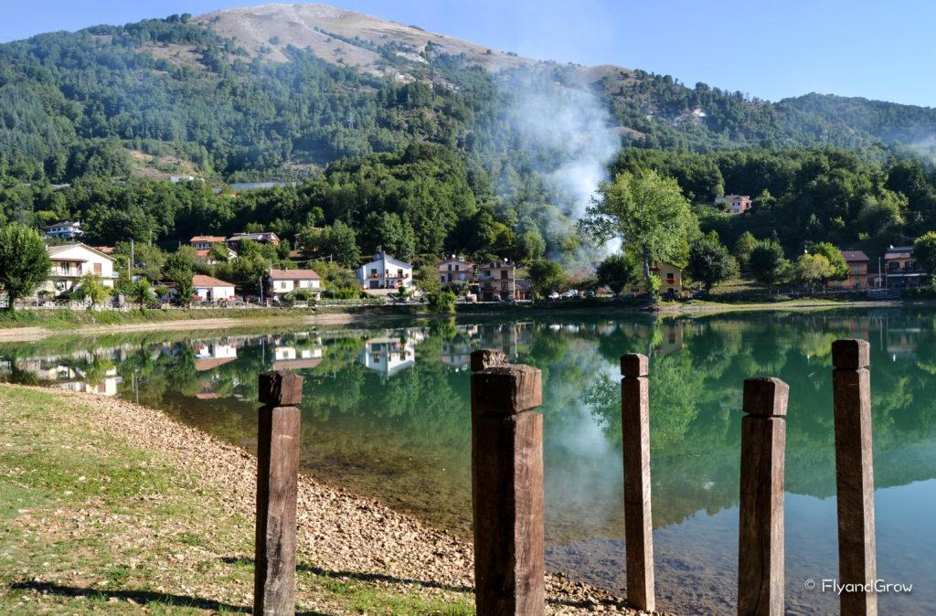 Lago Sirino en ruta por Basilicata