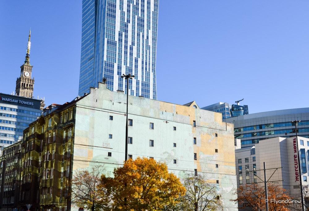 Edificios modernos de Varsovia
