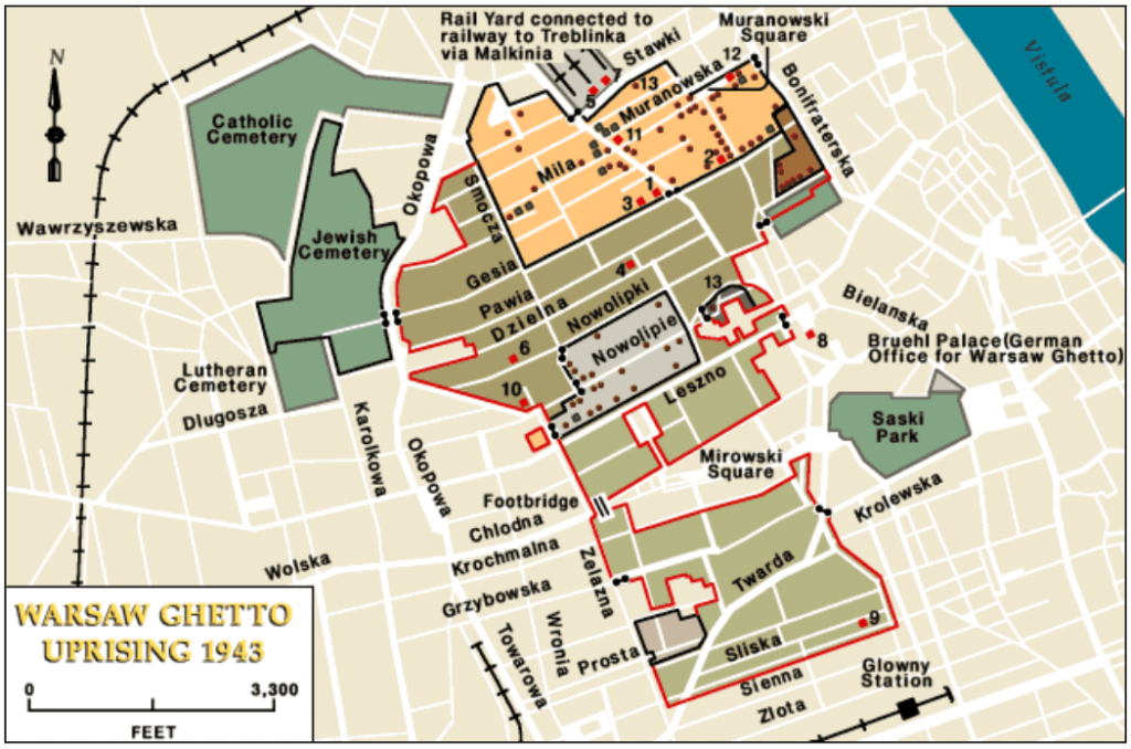 Mapa Gueto de Varsovia