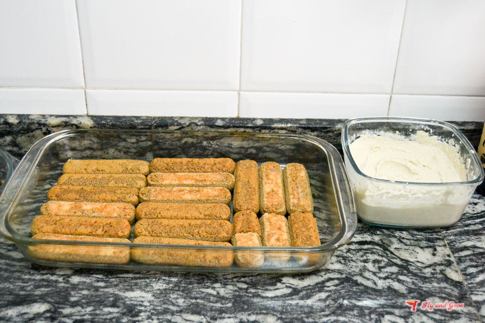 receta de tiramisú sin queso
