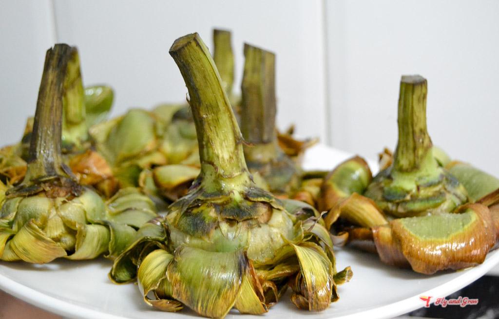 Receta de alcachofas a la judía