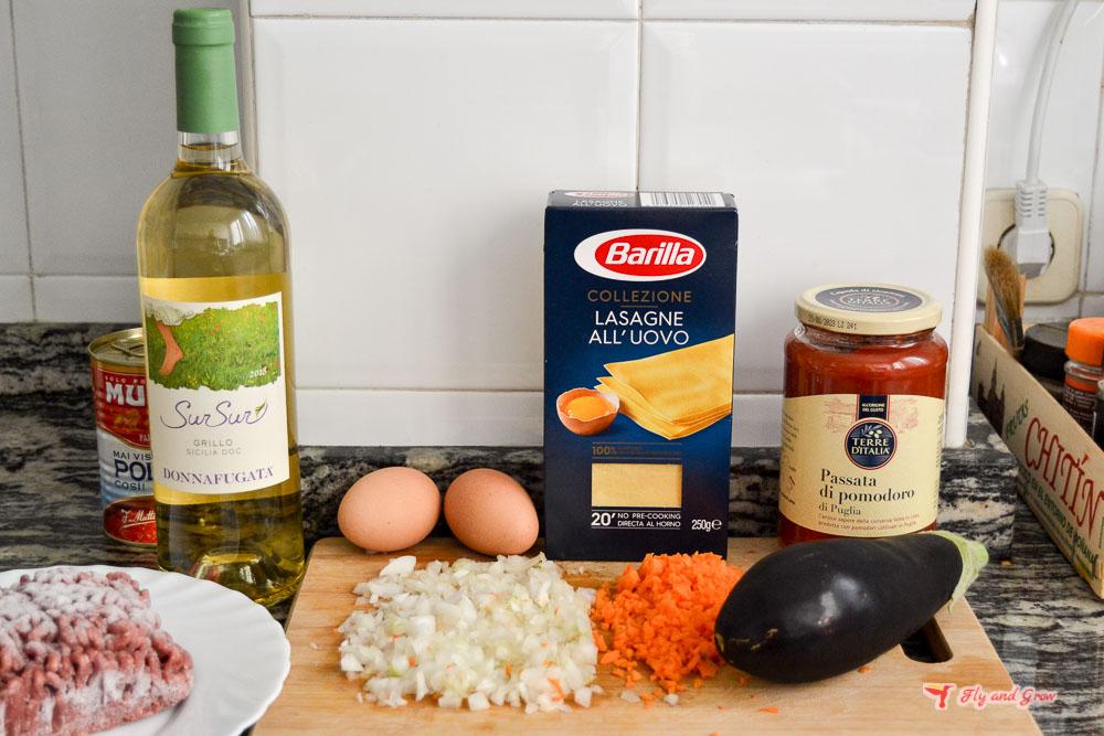 ingredientes de la lasaña italiana clásica