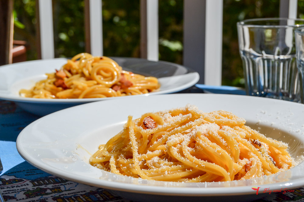 plato de carbonara italiana original