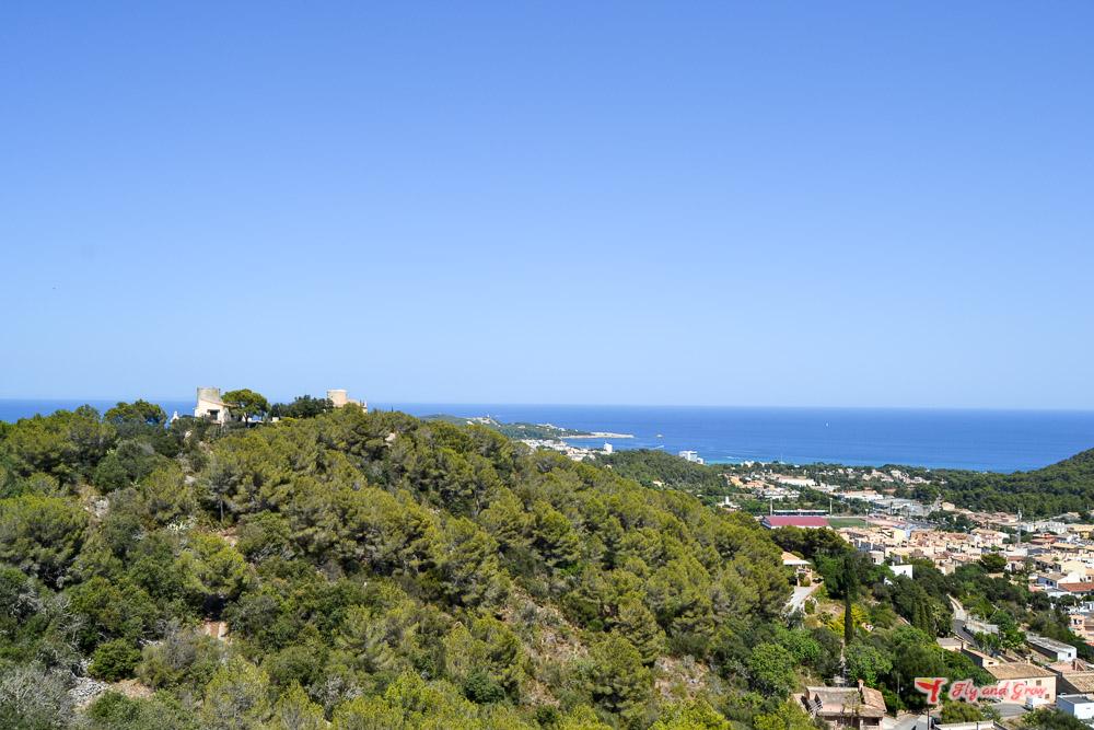panorámica desde el castillo de Capdepera