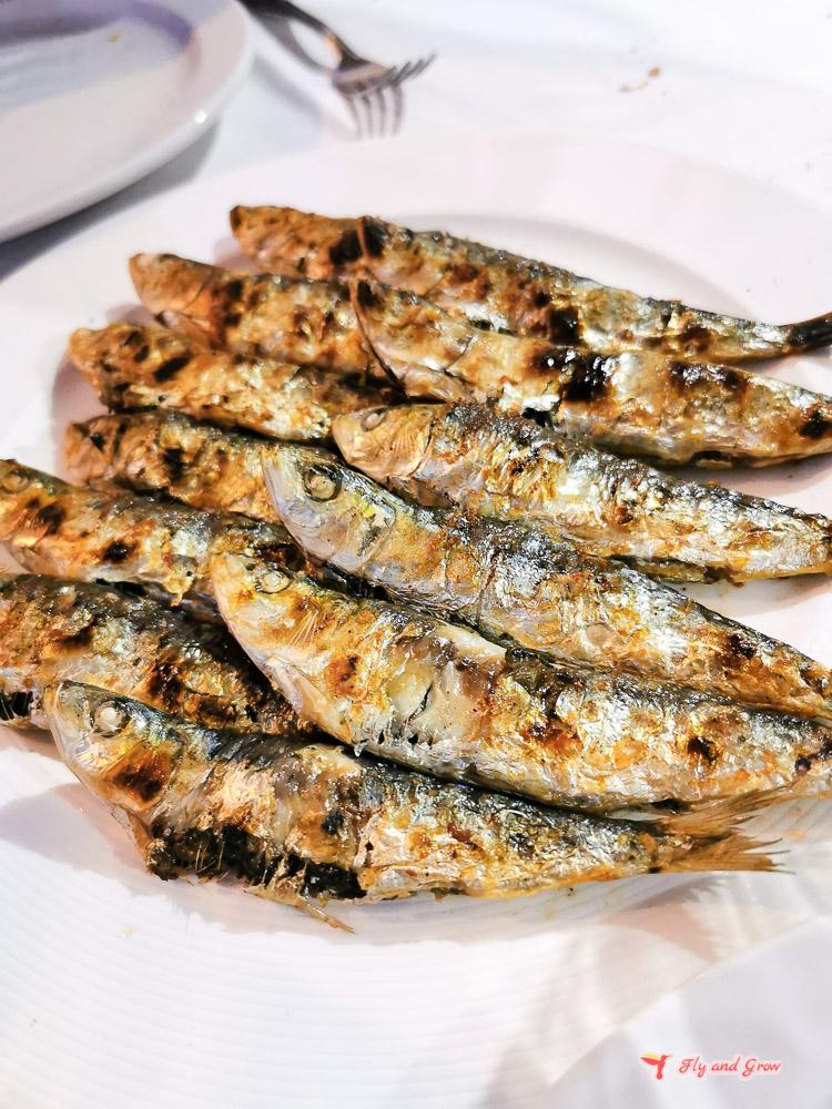 sardinas a la brasa en Santurce
